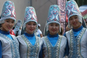 Kirgiz traditional dress
