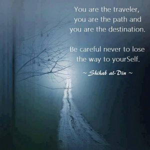 you are the traveler..