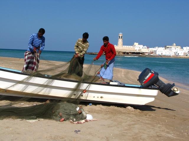 Sur halászok , Omán