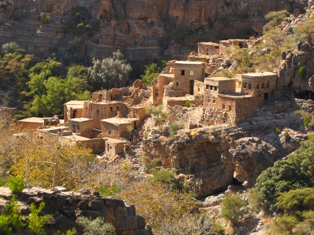 Misfat elhagyatott faluja, Omán