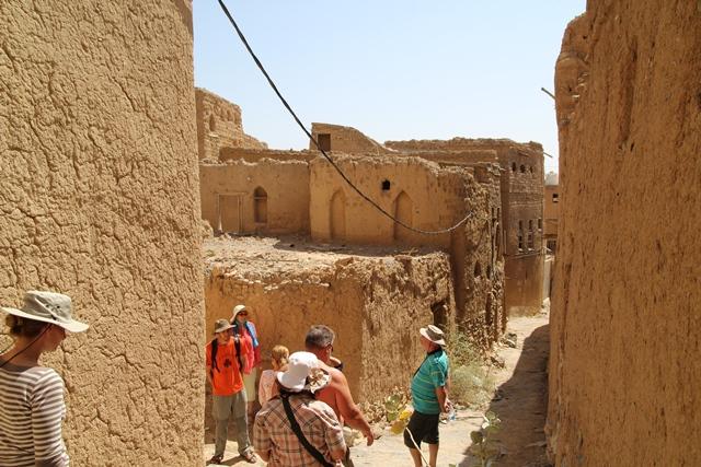 Misfat, Omán, elhagyatott vályog falu