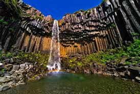Svartifoss vízesés, Izland