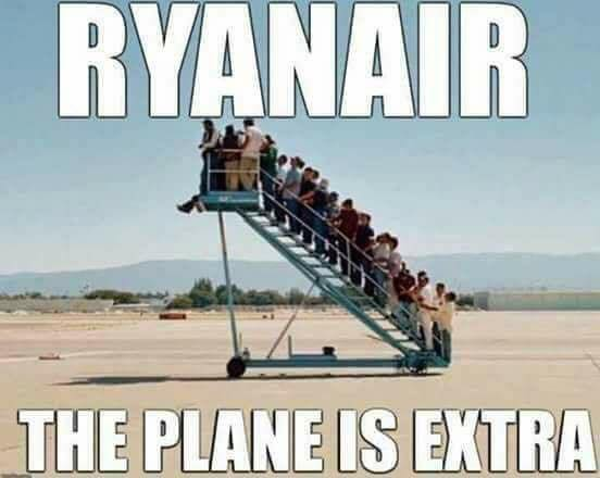 A repülő az extra - fapados karikatura
