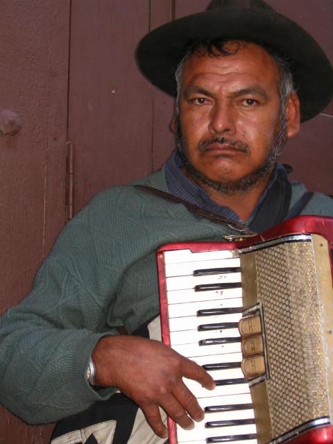Bolivia-Sucre koldus, zenész