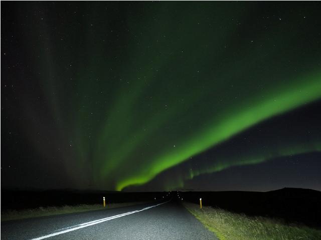 sarki fény, izland